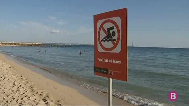Tornen+a+tancar+la+platja+de+Can+Pere+Antoni+i+Ciutat+Jard%C3%AD+per+vessaments