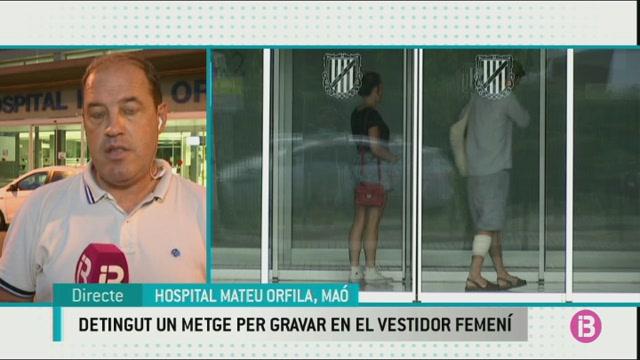 Detingut+un+metge+del+Mateu+Orfila+per+gravar+les+seves+companyes+als+vestidors+amb+un+m%C3%B2bil