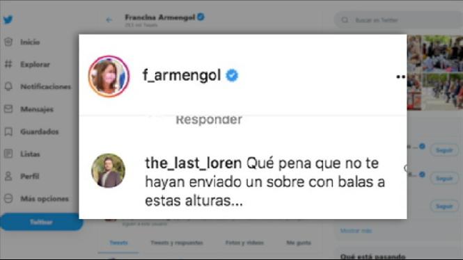 La+presidenta+Francina+Armengol+tamb%C3%A9+ha+rebut+amenaces+via+xarxes+socials