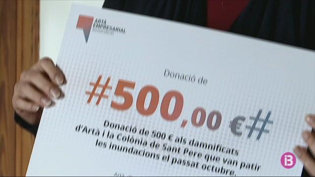 Empresaris+i+artesans+d%27Art%C3%A0+donen+2.500+euros+pels+damnificats+de+la+torrentada