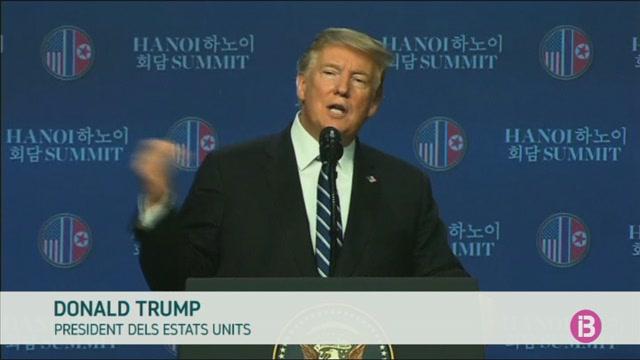 Trump+dona+per+acabada+la+cimera+amb+Kim+Jong-Un+sense+assolir+cap+acord