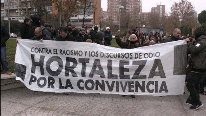 Protesta+a+Madrid+contra+el+racisme+davant+d%27un+centre+d%27immigrants