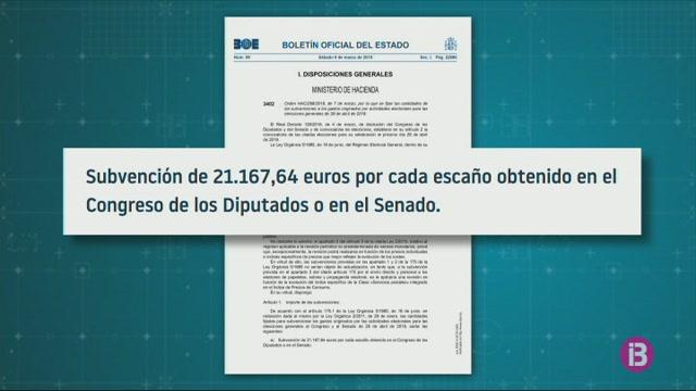Les+formacions+pol%C3%ADtiqus+rebran+m%C3%A9s+de+21+mil+euros+per+cada+esc%C3%B3+que+obtenguin+als+comicis+electorals