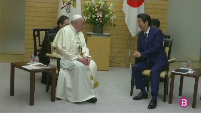 El+Papa+es+reuneix+amb+el+primer+ministre+nip%C3%B3%2C+Shinzo+Abe
