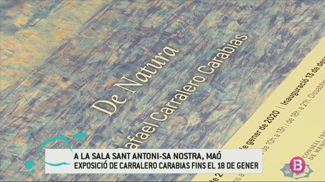 El+pintor+Carralero+Carab%C3%ADas+inaugura+la+seva+primera+mostra+a+Menorca