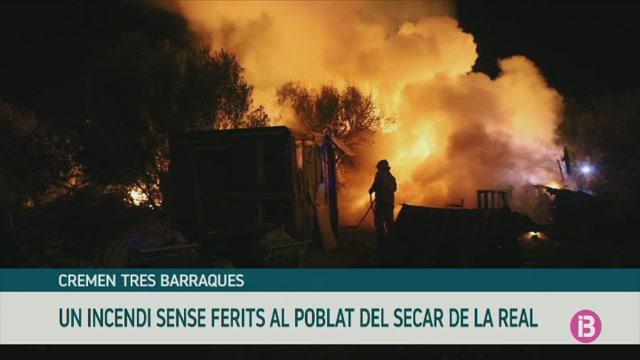 Cremen+tres+barraques+al+poblat+del+Secar+de+la+Real