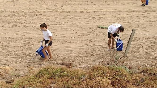 Netegen+la+platja+per+al+Dia+Mundial+de+la+Joventut