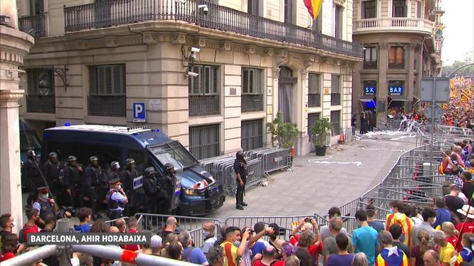 Dues+persones+detingudes+en+els+aldarulls+de+la+Diada+de+Catalunya+a+Barcelona