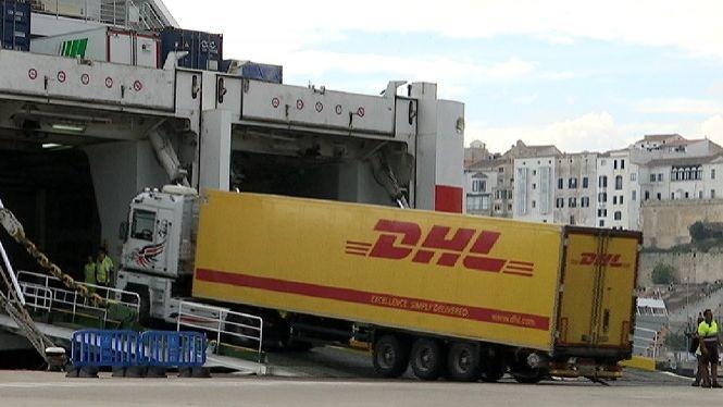 La+vaga+catalana+afecta+al+transport+de+mercaderies+de+Menorca