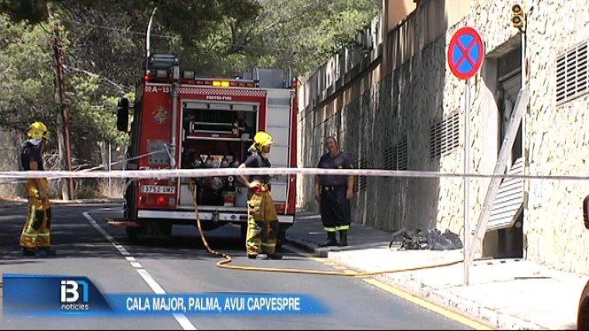 Incendi+a+un+cotxe+a+Cala+Major