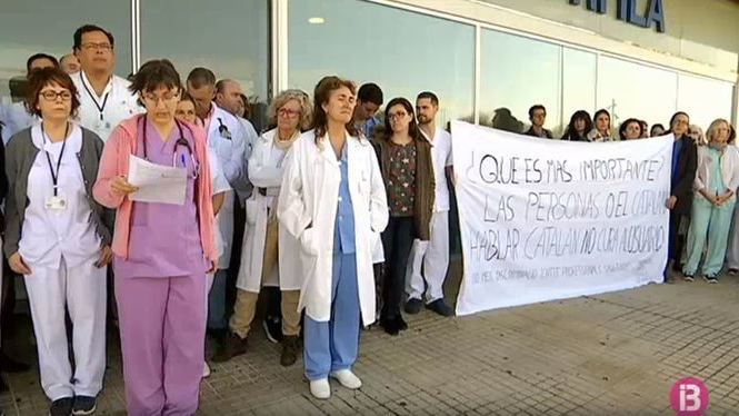 Un+centenar+de+treballadors+del+Mateu+Orfila+protesten+contra+el+decret+del+catal%C3%A0
