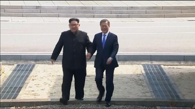 Corea+del+Nord+podria+anul%C2%B7lar+la+cimera+amb+els+EUA+per+unes+maniobres+militars