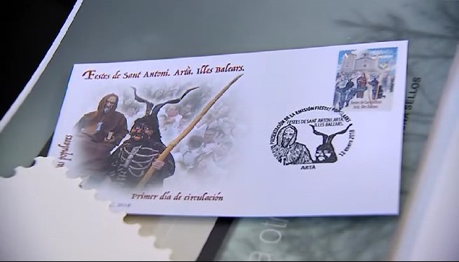 Correus+dedica+un+segell+a+Sant+Antoni+d%27Art%C3%A0%2C+on+tot+ja+%C3%A9s+a+punt+per+la+disbauxa