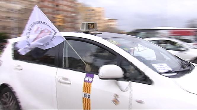 Vaga+de+taxistes+a+Palma